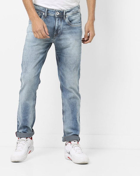Mid-Rise Jeans With 5-Pocket Styling By FLYING MACHINE ( Assorted )