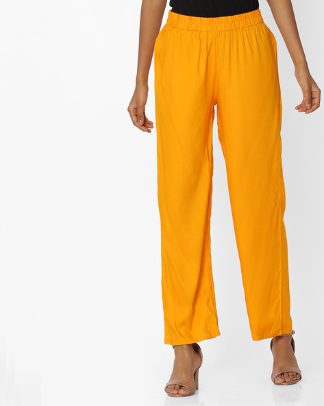 Palazzos With Elasticated Waist By OVI ( Mustard )