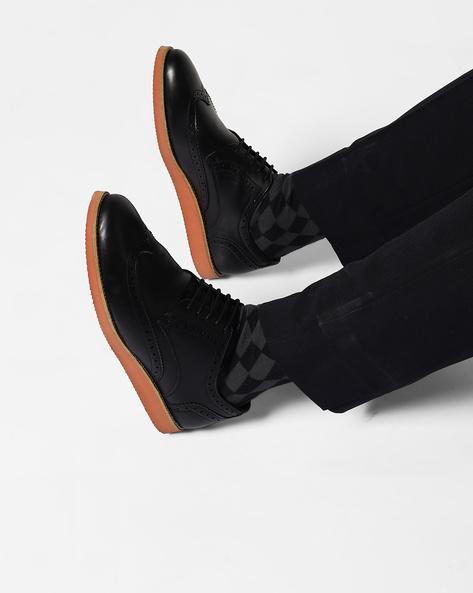 Brogue Derby Shoes By AJIO ( Black )