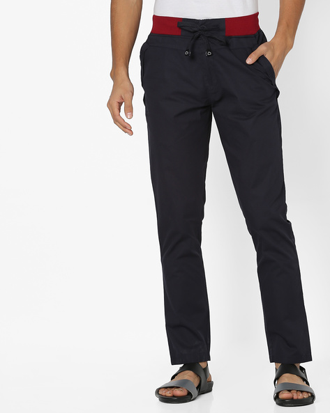 Lounge Pants With Elasticated Waist By Sweet Dreams ( Navy )