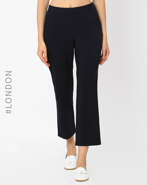Relaxed Fit Trousers With Slant Pockets By Marks & Spencer ( Navyblue )