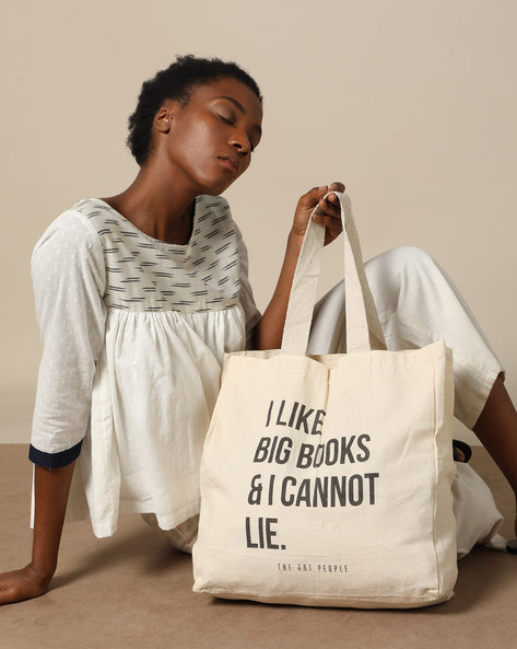 Multipurpose Cotton Canvas Tote Bag By The Art People ( White ) - 460179671001