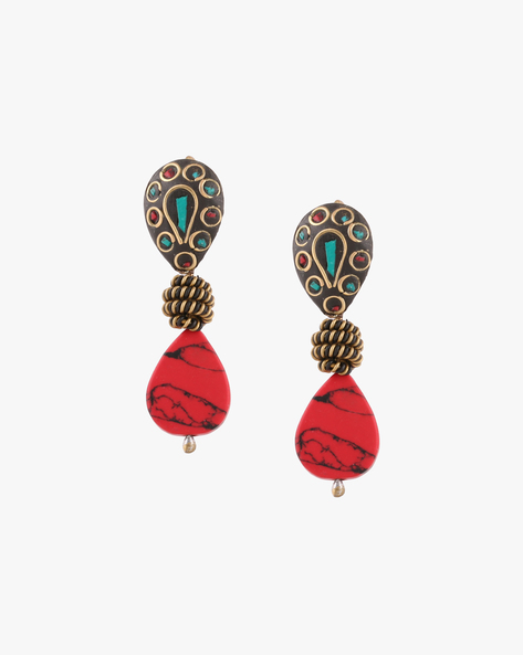Drop-Earrings With Beads By Anetra ( Multi )
