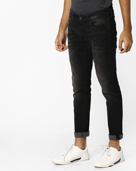 Lightly Washed Skinny Jeans By VOI JEANS ( Black ) - 460118044001