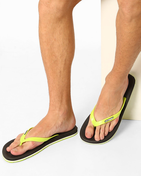 Gripster Rubber Flip-Flops By Sole Threads ( Charcoalblack )