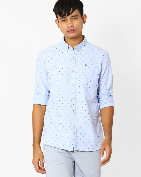 Printed Shirt With Patch Pocket By FLYING MACHINE ( Assorted )