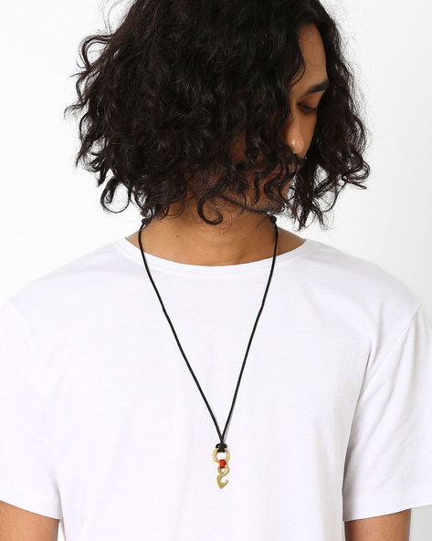 Pendant Neckpiece With Slide Closure By Alto Vida ( Black )