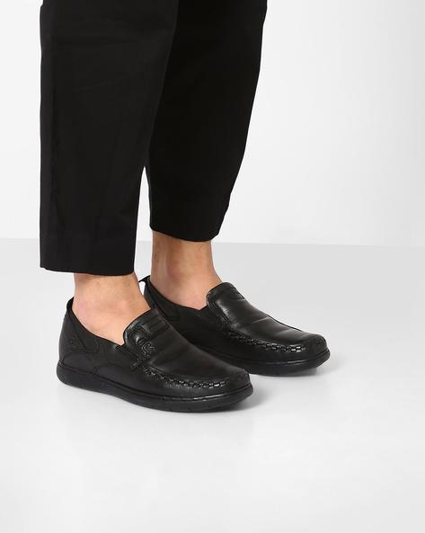 Genuine Leather Slip-Ons By Lee Cooper ( Black ) - 450084935002