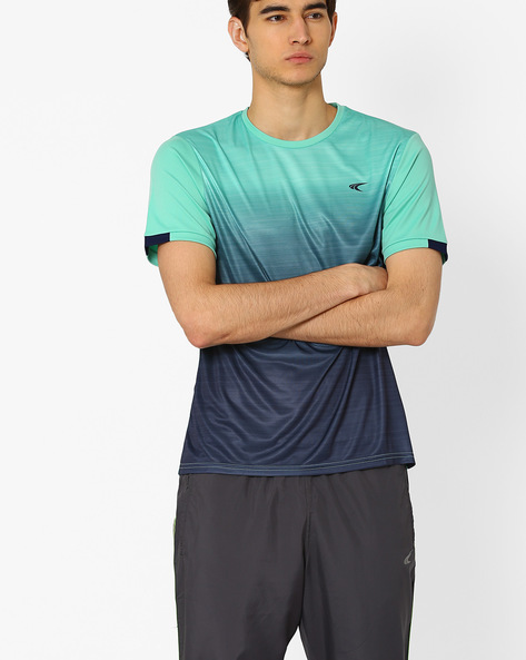 Ombre-Dyed T-shirt With Quick Dry By PERFORMAX ( Ltgreen )