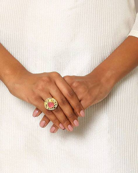 Gold-Plated Cocktail Ring By Indie Picks ( Gold ) - 460046720001