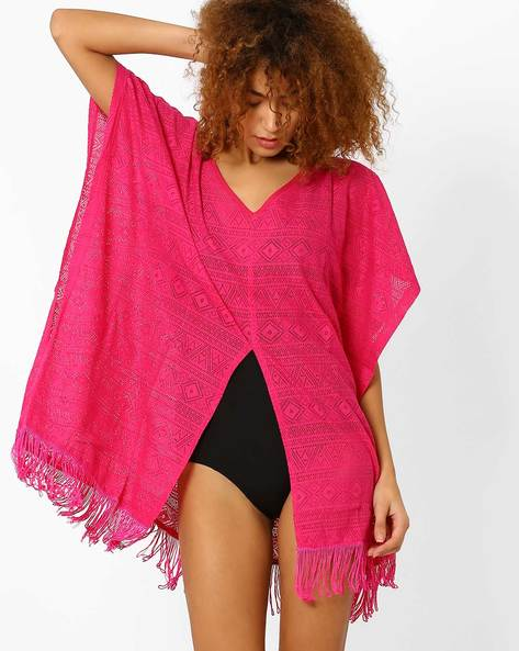 Lace Cover-Up With Tassels By PrettySecrets ( Pink )