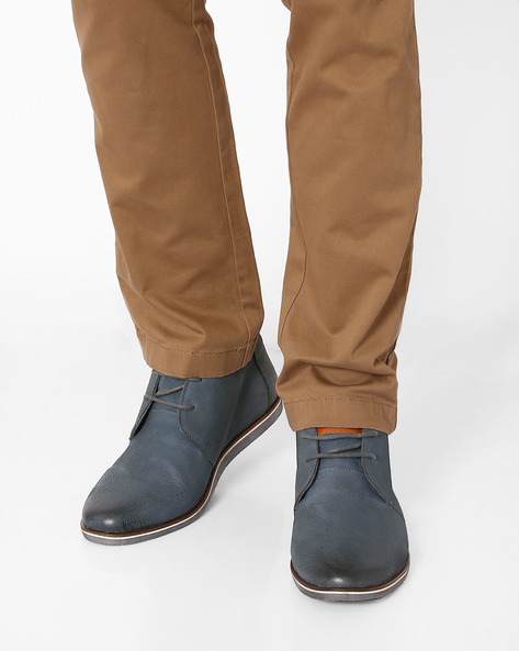 Leather Casual Shoes By USPA ( Blue )