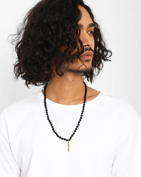 Beaded Chain With Slide Closure By Alto Vida ( Black )