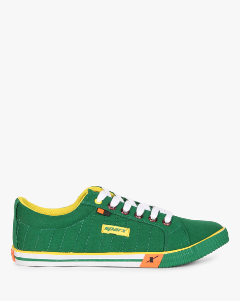 Low-Top Lace-Up Casual Shoes By SPARX ( Green )
