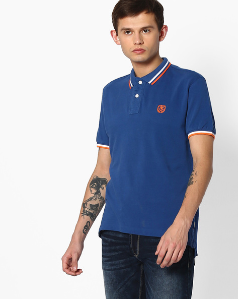 Pique Polo T-shirt With Contrast Tipping By FLYING MACHINE ( Assorted )