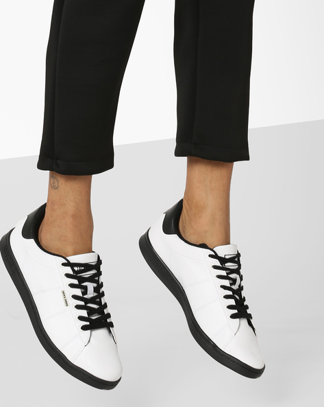 Low-Top Lace-Up Sneakers By Jack & Jones ( Black )