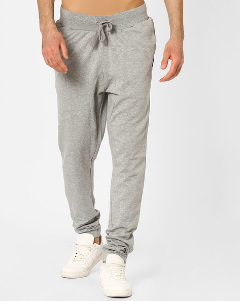 Knitted Joggers With Slant Pockets By Blue Saint ( Lightgrey )