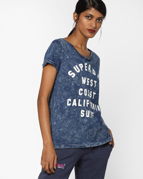 Heathered Crew-Neck T-Shirt By SUPERDRY ( Aq2 )