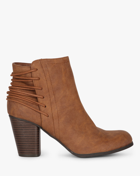 Heeled Boots With Lace-Up Back By STEVE MADDEN ( 934 )