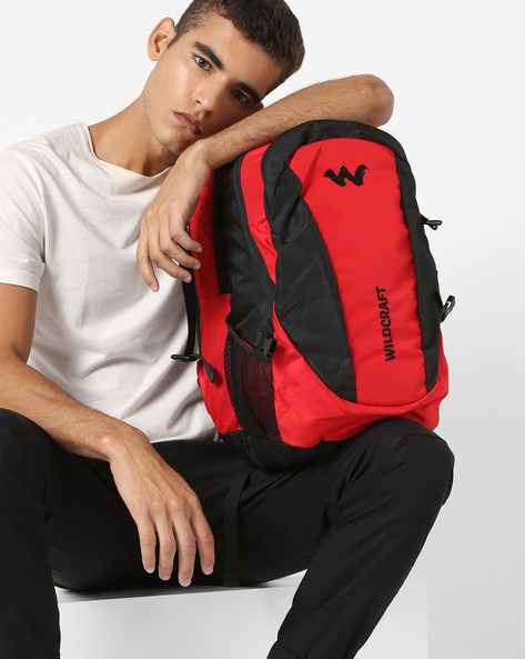 Colourblock Laptop Backpack By Wildcraft ( Vintagered )