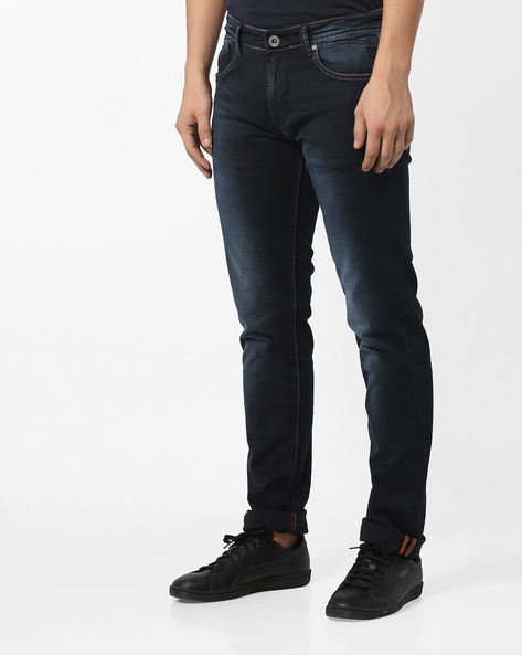 Mid-Rise Slim Fit Jeans By Killer ( Indigo )
