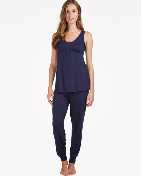 Sleeveless Top With Joggers By Hunkemoller ( Blk )