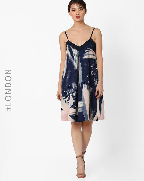 Printed Camisole Dress By Closet London ( Multi )