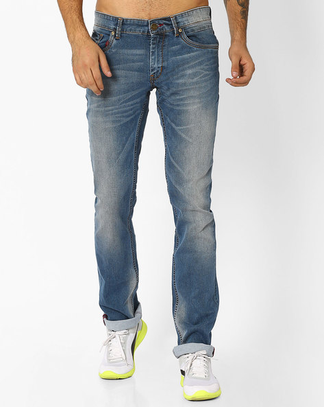 Drift Fit Ultra Marine Stretch Jean By BASICS ( Blue )