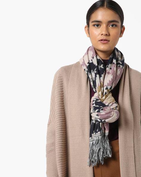 Geometric Print Fashion Dupatta With Fringe By AJIO ( Multi )