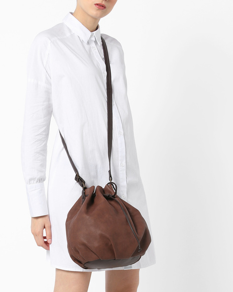 L Lumber Y G Angie Sling Bag By BAGGIT ( Cappuccino )