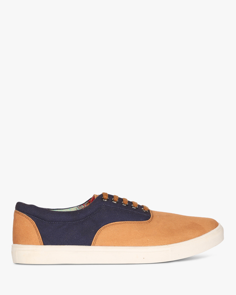 Colourblock Low-Top Sneakers By Knotty Derby ( Tan )