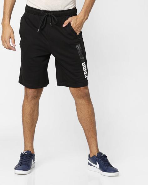 Mid-Rise Shorts With Drawstring Waist By Puma ( Black )