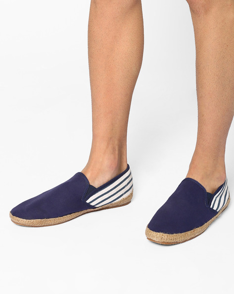 Slip-Ons With Elasticated Gussets By Carlton London ( Blue )