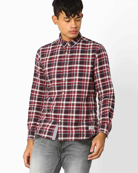 Checked Slim Fit Casual Shirt By FLYING MACHINE ( Assorted ) - 440720183002