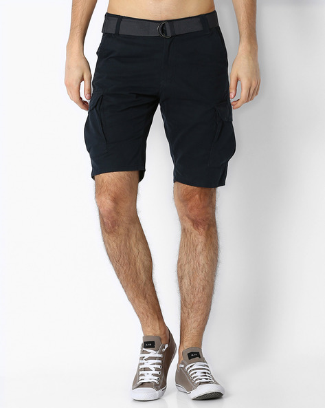 Cargo Shorts With Belt By DNM X ( Navy )