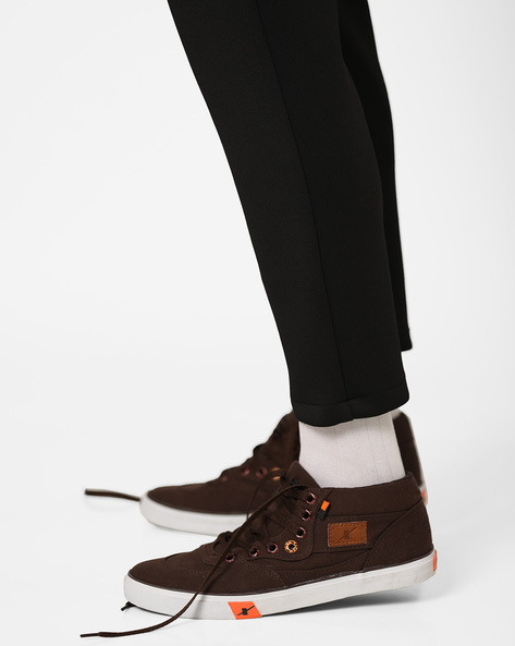 Mid-Top Lace-Up Shoes By SPARX ( Brown )