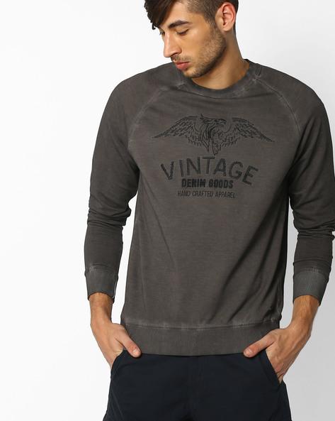 Pigment Dyed Slim Fit Raglan Sweatshirt By DNM X ( Olive )