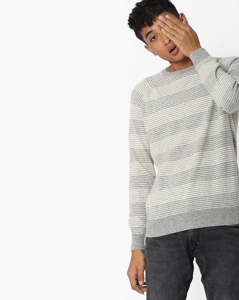 Striped Crew-Neck Pullover By LEVIS ( Grey )