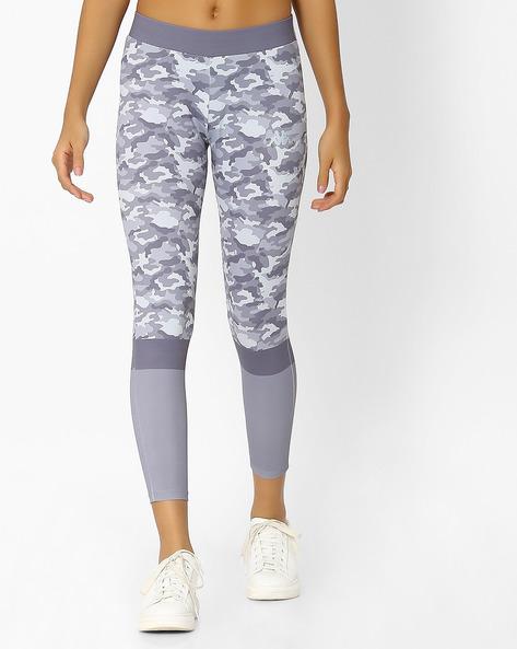 Low-Rise Printed Skinny Leggings By KAPPA ( Grey )