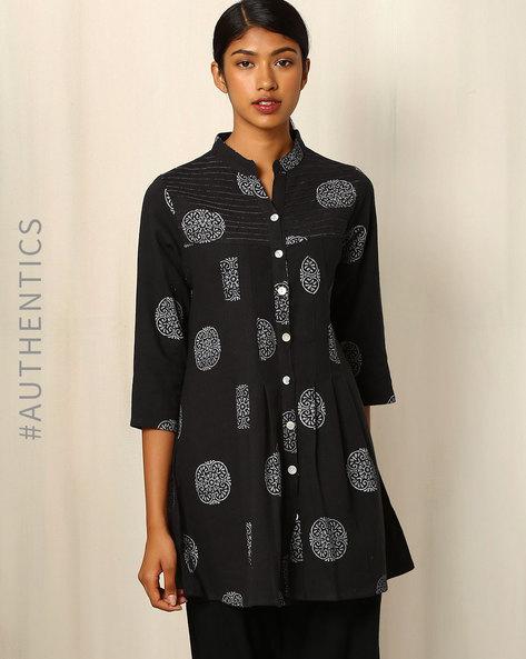 Khadi-Cotton-Dress-with-Block-Print