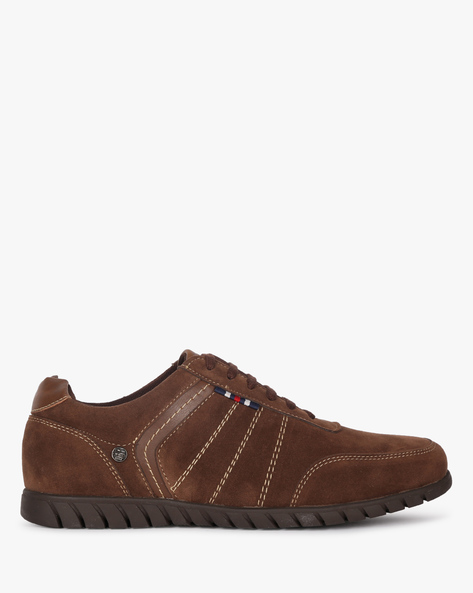 Lace-Up Shoes With Contrast Stitch By DUKE ( Brown )