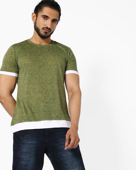 Crew-Neck T-shirt With Slub Effect By ANTIFERRO ( Green )