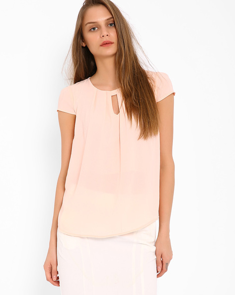Pleated Top By AJIO ( Pink )