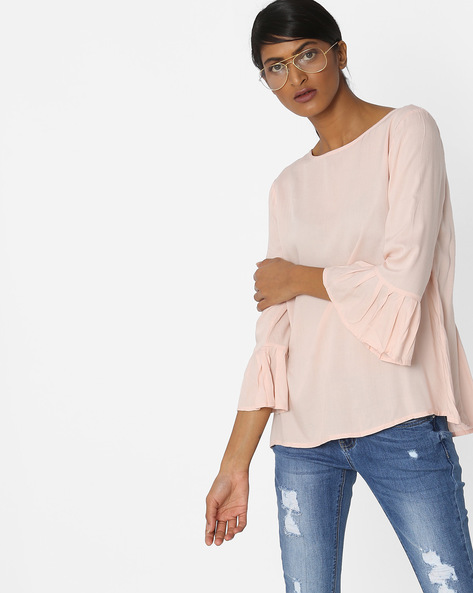 Top With Bell Sleeves By Vero Moda ( Peach )
