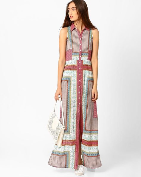 Maxi Shirt Dress By And ( Multi )