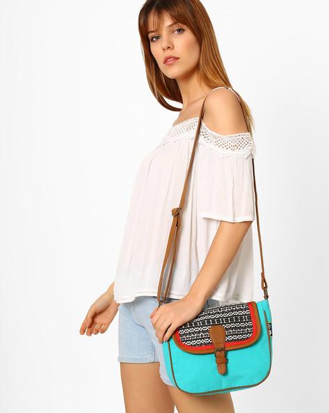Canvas Sling Bag By Kanvas Katha ( Multicolor ) - 460066504001