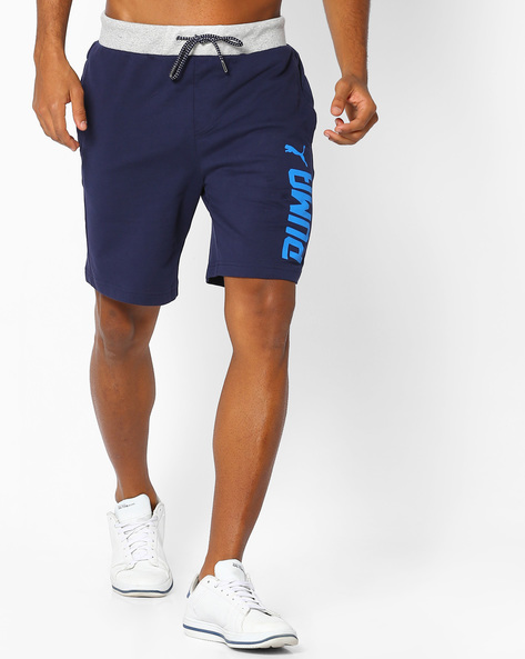 Sweat Shorts With Drawstring Fastening By Puma ( Blue )