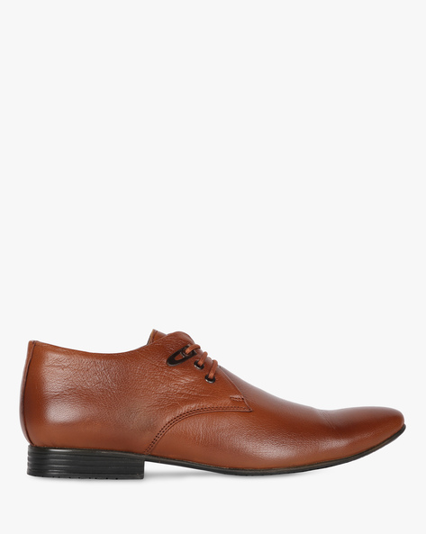 Textured Lace-Up Shoes By Buckle Up ( Tan )