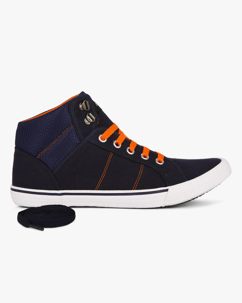 Min 30% Off + Get 30% Off on Footwear On Rs.1499 & Above By Ajio | Canvas N9-Treated Mid-Top Trainers @ Rs.1,199