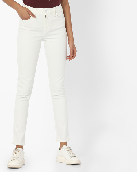 Skinny Fit Ankle-Length Jeans By LEVIS ( White )
